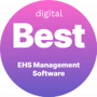 Digital.com Badge for Capptions as the Best EHS management software