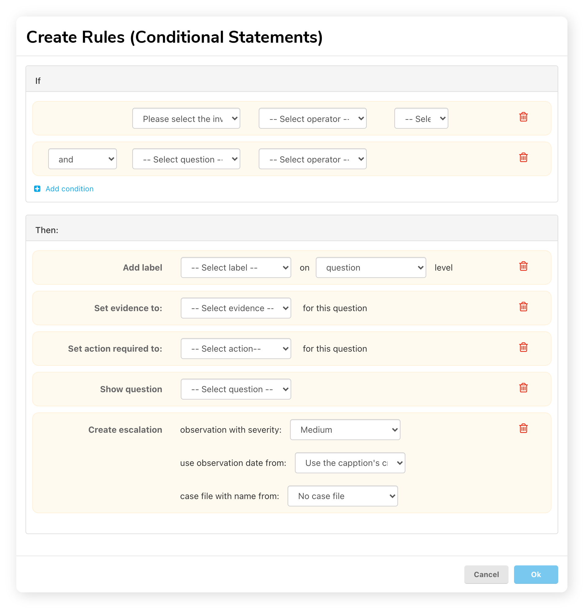 Rules Conditional Statements